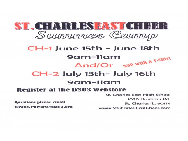 St Charles East Cheer Summer Camp