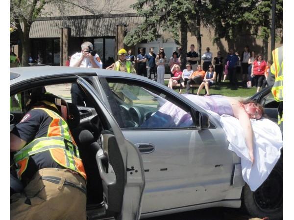 fatal prom crash simulation at lzhs