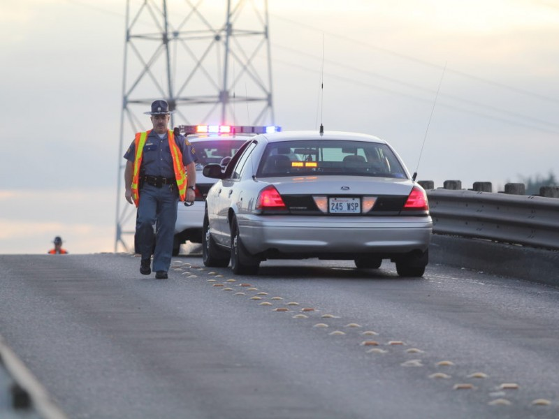 Collision on state route 302 halted traffic and sent two people to