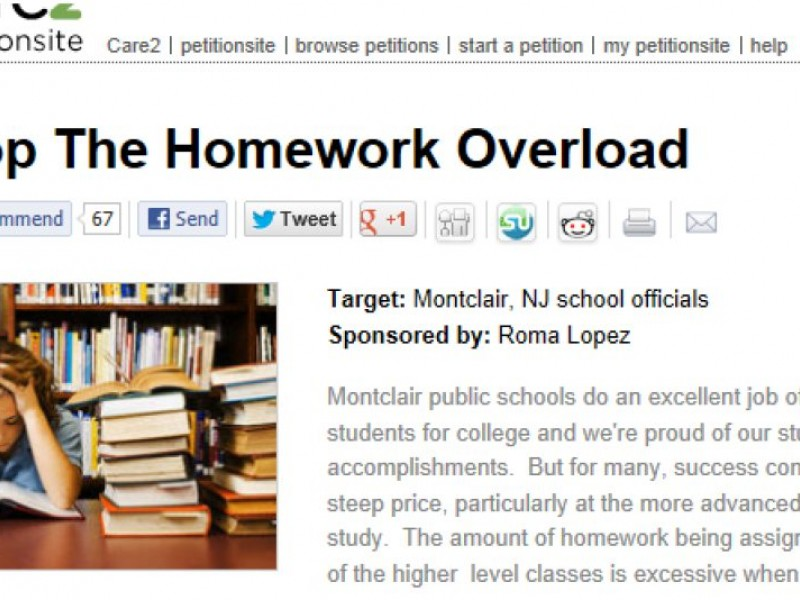 Homework overload in colleges