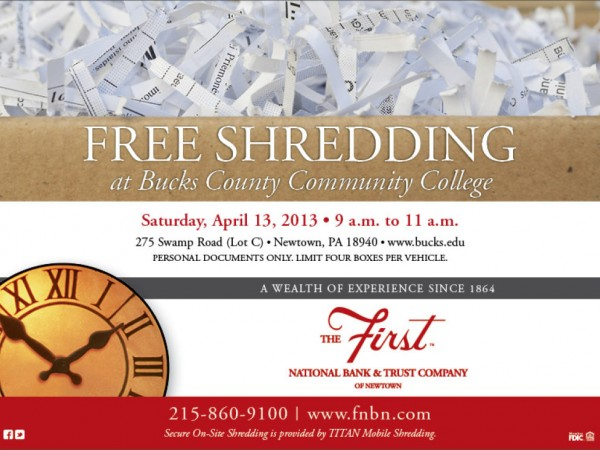 Free shredding day patch for Bank of america document shredding