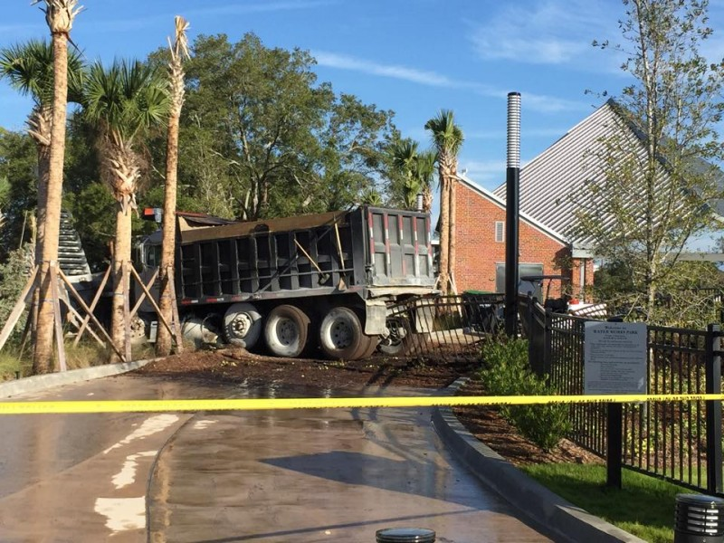 Best Family Truck >> Update: Dump Truck Crashes into Water Works Park - Tampa, FL Patch