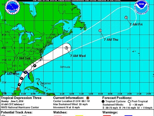 Tropical Storm Colin forms in Gulf, speeds toward Florida