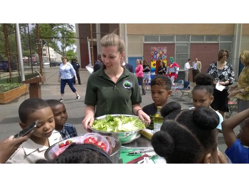 Camden Street School Celebrates New Learning Garden Patch