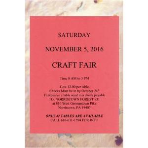 Craft Fair Mt Airy Md November