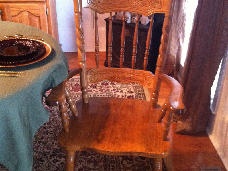 complete oak dining room set w table 6 chairs china hutch