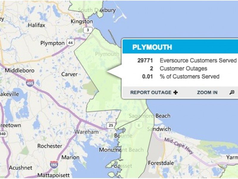 Power Restored In Plymouth After Blizzard Patch