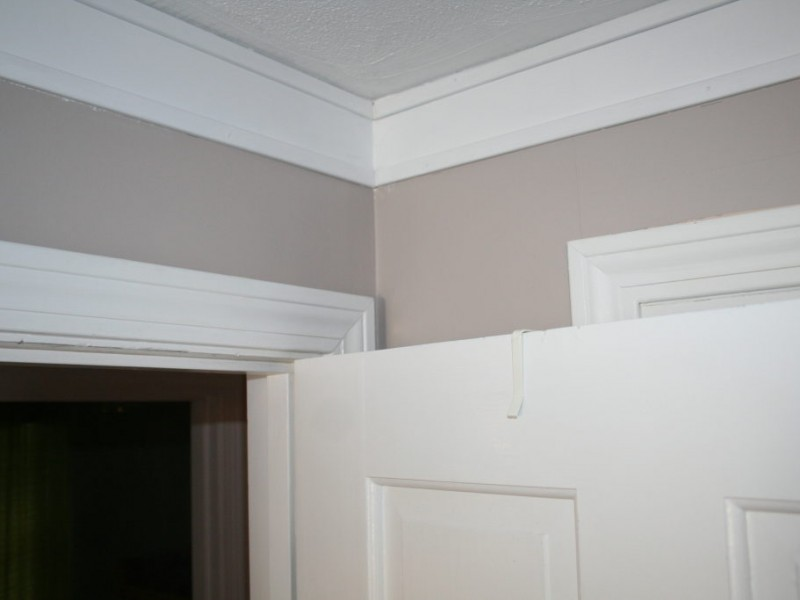 Faux crown molding is cheap easy patch for 9 inch crown molding