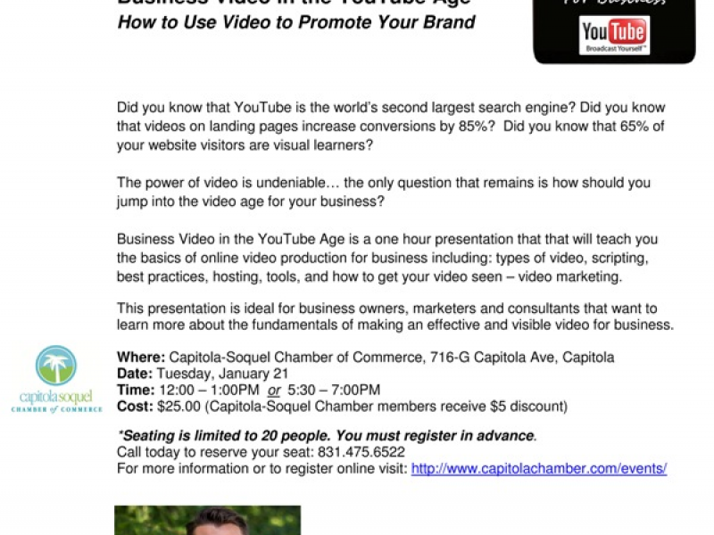 Business Video in the YouTube Age - How to Use Video to Promote ...
