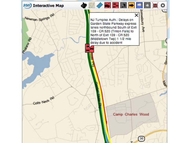 Delays following garden state parkway accident near exit - Accident on garden state parkway today ...
