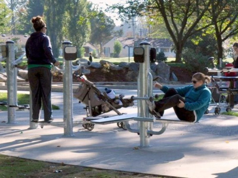 Marymoor S New Playground For Adults Helps Moms Get Fit