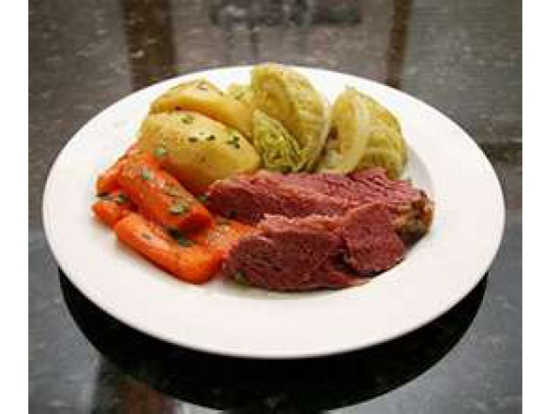 St. Patricks Day RecipeCider Corned Beef and Cabbage
