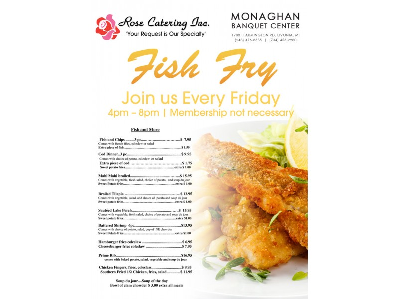 Friday Fish Fry Free Coffee Plymouth Canton Mi Patch