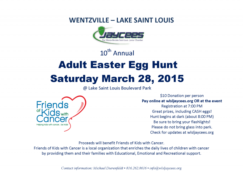 Adult Easter Egg Hunt The City of Eureka, Missouri