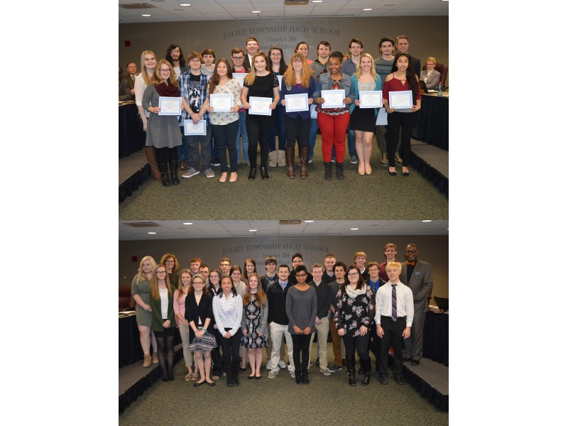 illinois shorewood joliet students recognized high scores