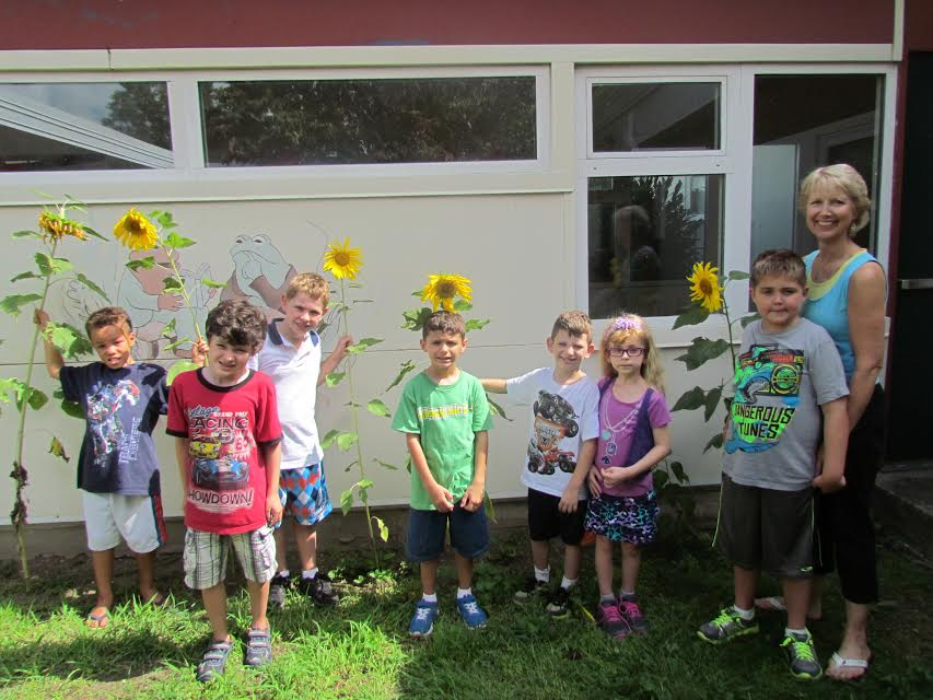 Wantagh School Courtyard Garden Beautified