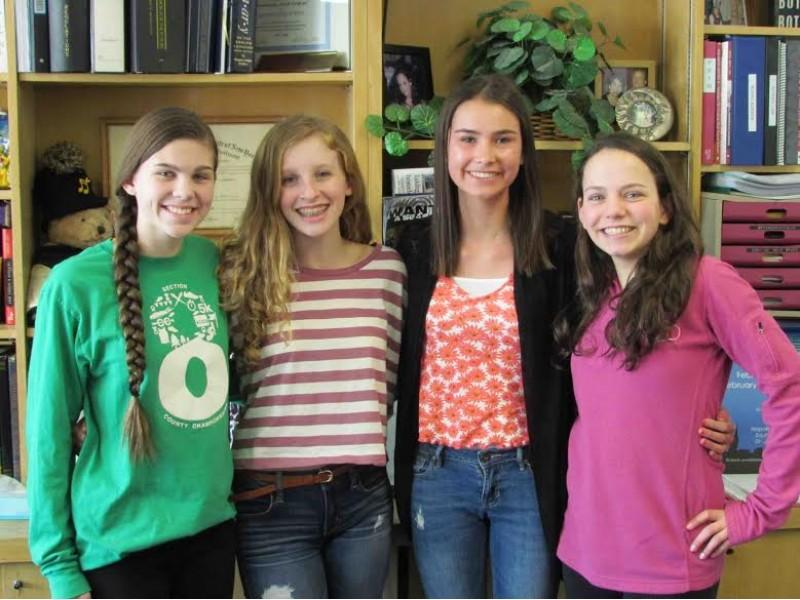 Wantagh High School freshmen Emma Vines, Kyleigh Watson, Lindsay ...