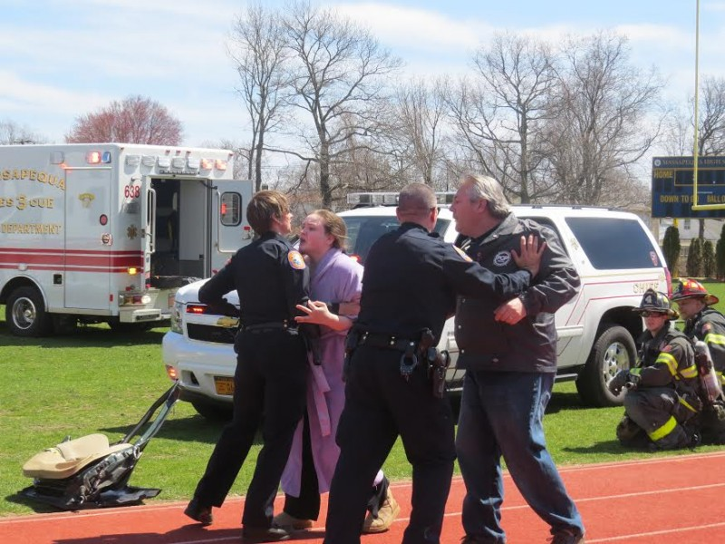 Massapequa Hosts Pre-Prom Car Accident Simulation