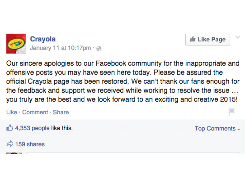 Crayola Apologizes For Off Color Posts After Facebook Hack Hatboro Pa Patch