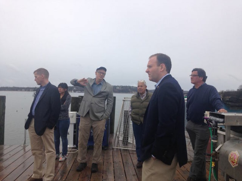 Congressman Visits Greenport Oyster Farm to Witness Rebirth of Industry