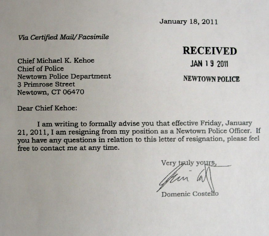 Read Resignation Letters of 2 Officers at Center of Police Union Probe ...