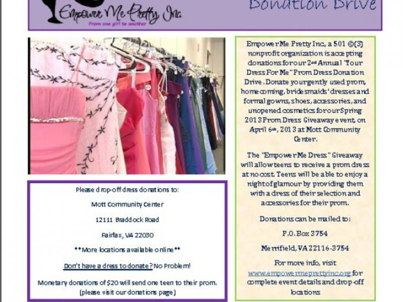 Prom Dress Donations Needed!!!! - Greater Alexandria, VA Patch