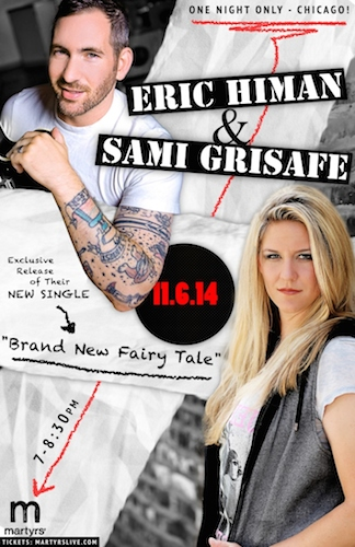 Singer/Song-writer Sami Grisafe and Eric Himan Live in Chicago at Martyrs on Thursday, November 6th!!