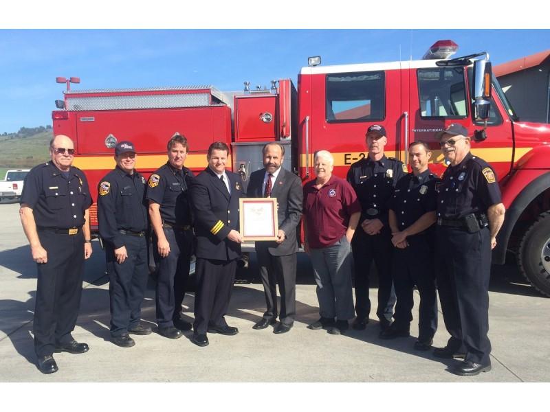 All Volunteer Fire Brigade In San Mateo County Wins Senator