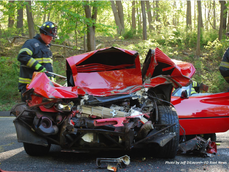 Ferrari Crushed in Head Collision Kings Park NY Patch