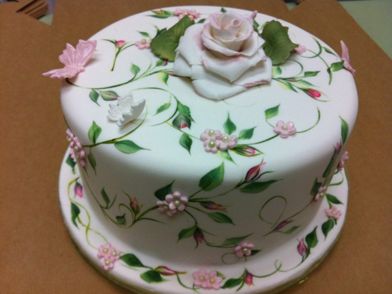 Cake Art Techniques : Cake Decorating Class with One Stroke Painting Technique ...