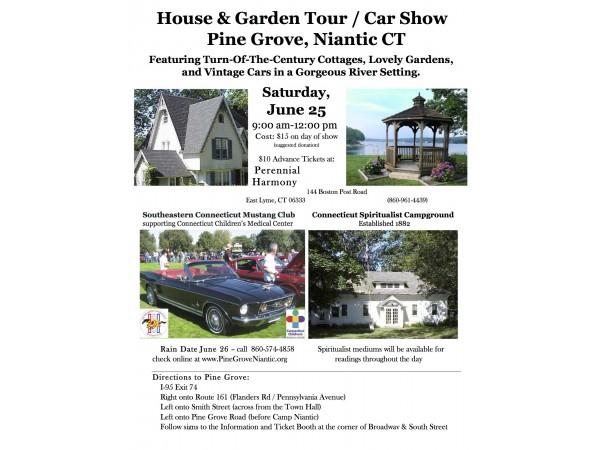 pine grove house garden tour plus vintage car show and