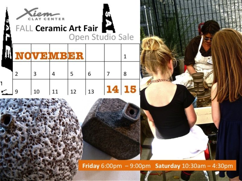Join us This Weekend! Xiem Fall Ceramic Art Fair and Open Studio ...