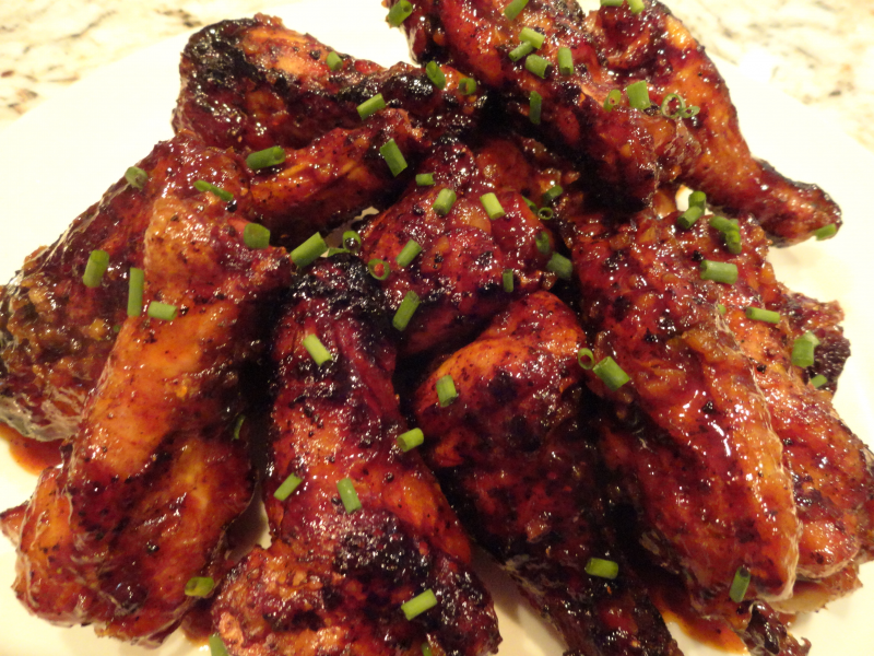 GrilledSpicy Asian Chicken Wings