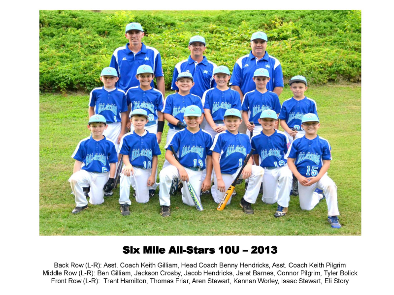 Six Mile All Stars Recognized For Tournament Performances