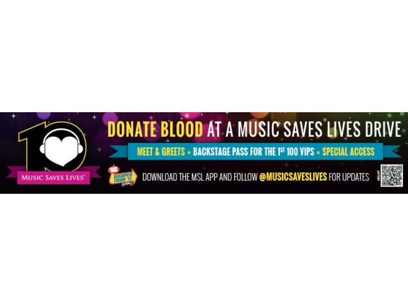 Music Saves Lives Blood Drive Warped Tour
