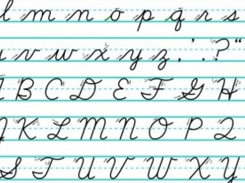 Should Milford Teach Cursive Writing on 8 How To Write As In Cursive