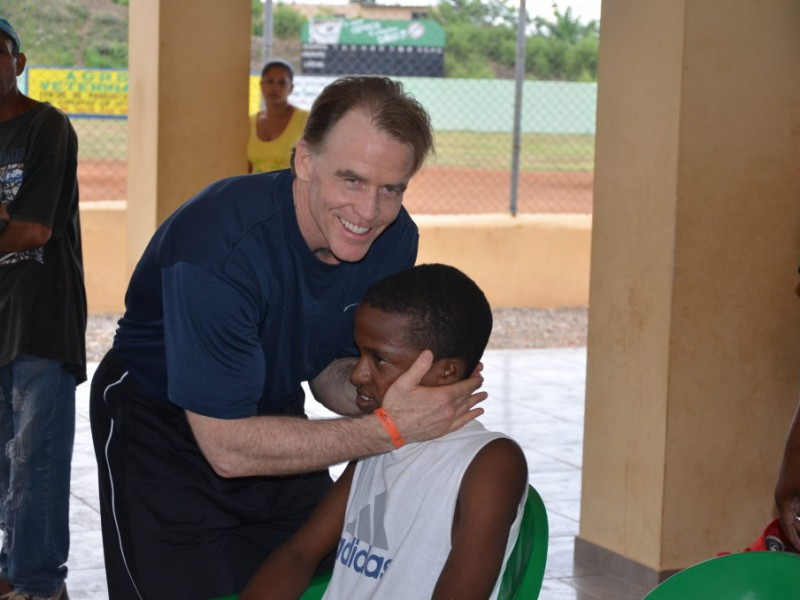 dominican children loved receiving baseball equipment