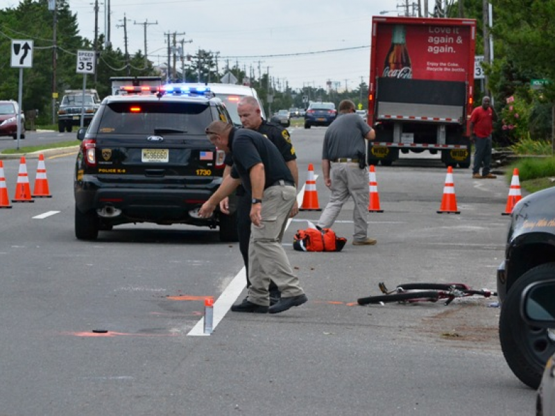 Tractor Trailer And Bicyclists Involved In Barnegat Light