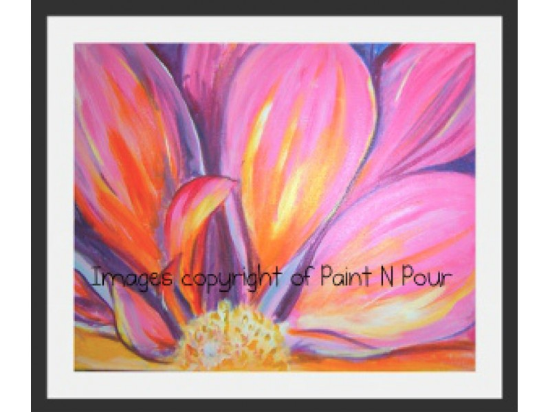 paint n pour tonight 39 pink bloom 39 patch
