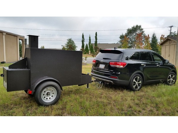 Football Tailgate Bbq Smoker Cooker Grill Competition
