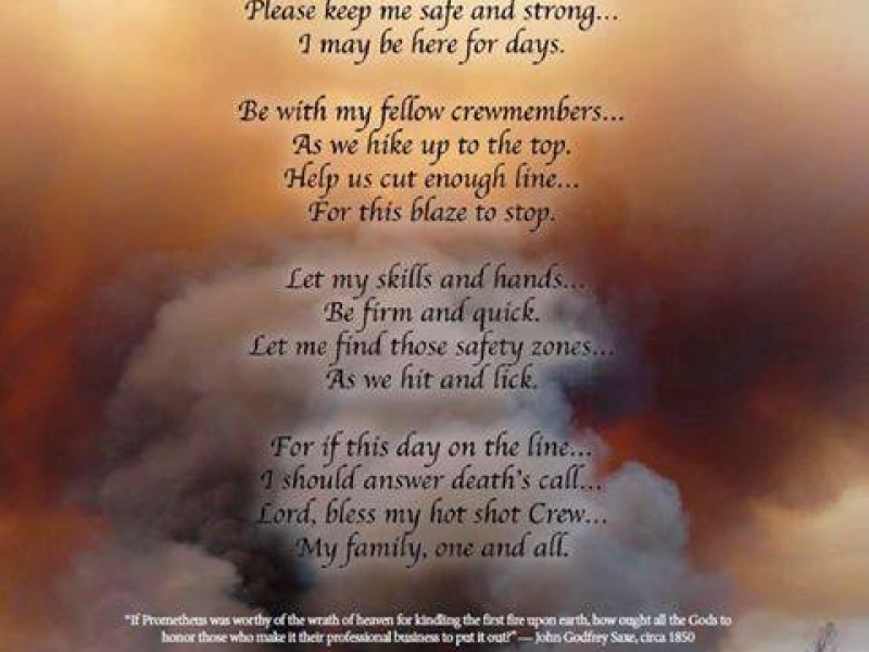 Ramonan's Hotshot Prayer Read at Prescott's Firefighter Memorial ...