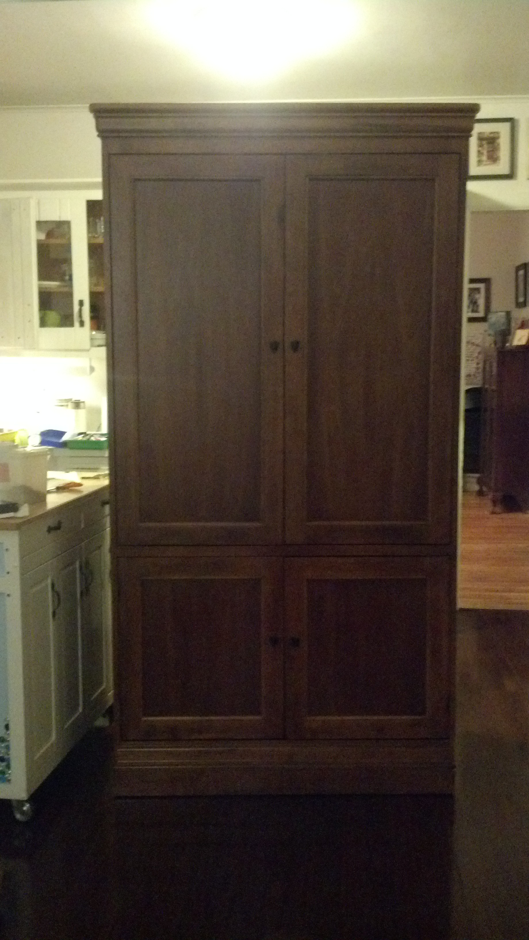 Hooker Entertainment Center Armoire Tv Television Cd Dvd