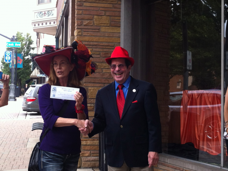 red hatters descend upon downtown libertyville