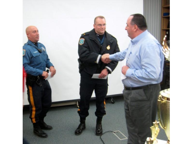 Police resuscitate teacher board recognizes officers for Uniform verona