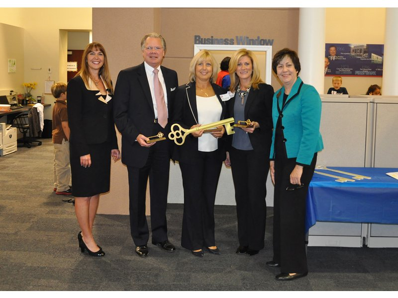 First Bank Is Key At Junior Achievement Ceremony Patch