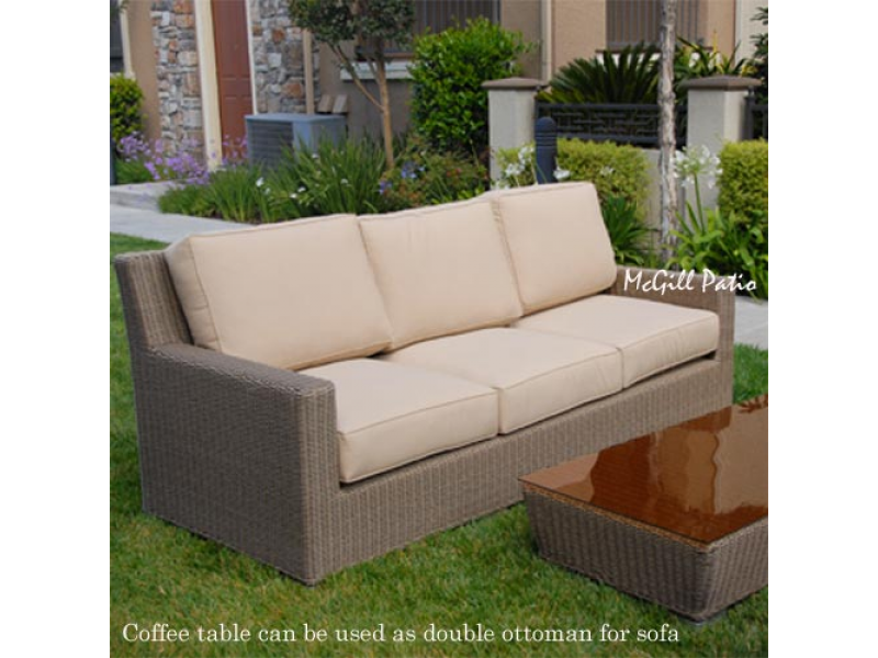 Wicker deep seating sets outdoor wicker furniture mcgill for Real wicker outdoor furniture