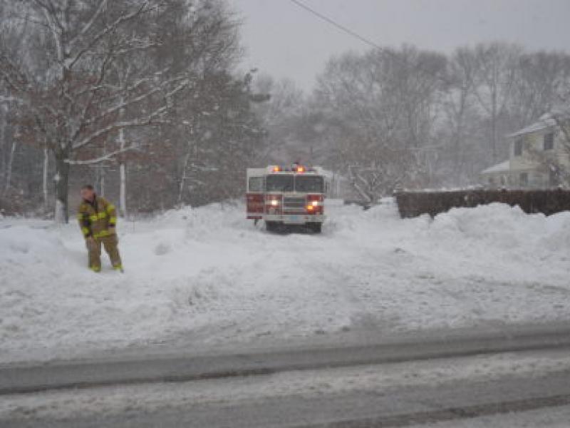 Plymouth Snow Storm Center 2014: Major Coastal Flooding