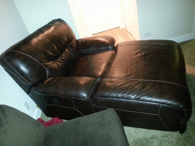 Large Brown Leather Chaise Lounge $500 | Patch