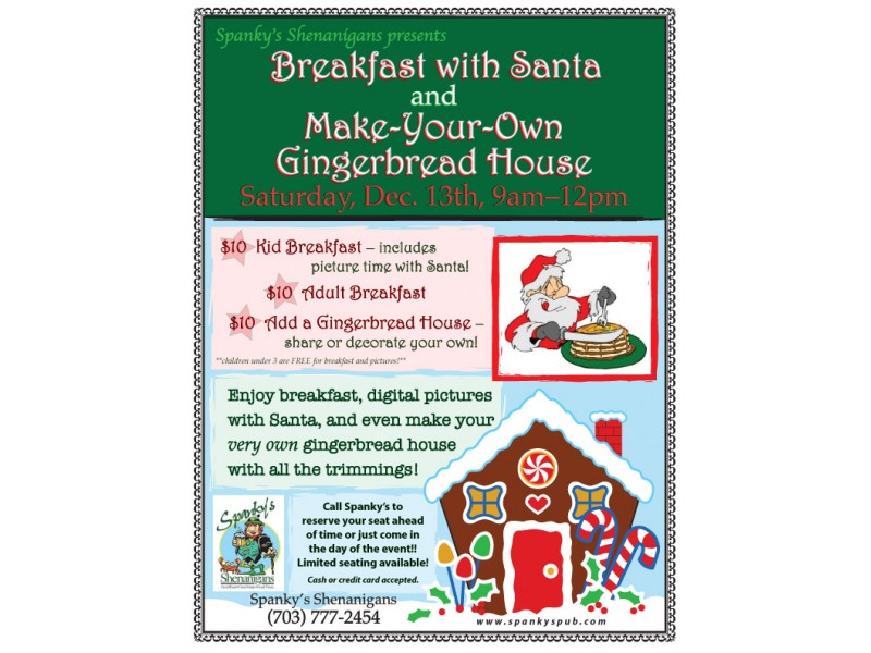 Breakfast With Santa And Make Your Own Gingerbread House