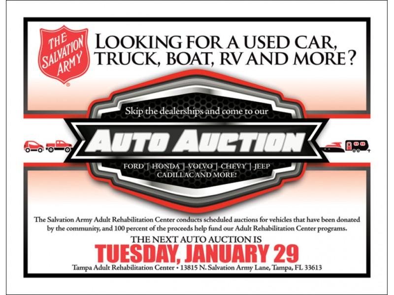 Salvation Army Car Auction